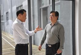 杭州市余杭区总工会主席杜坚强一行莅临我司参观指导